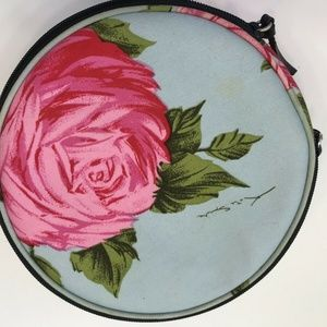 Vintage Kate Spade Roses Travel Jewelry Case